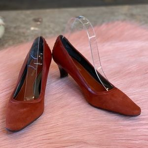 Naturalizer Falcone Burnt Orange Suede Pump Sz 6.5